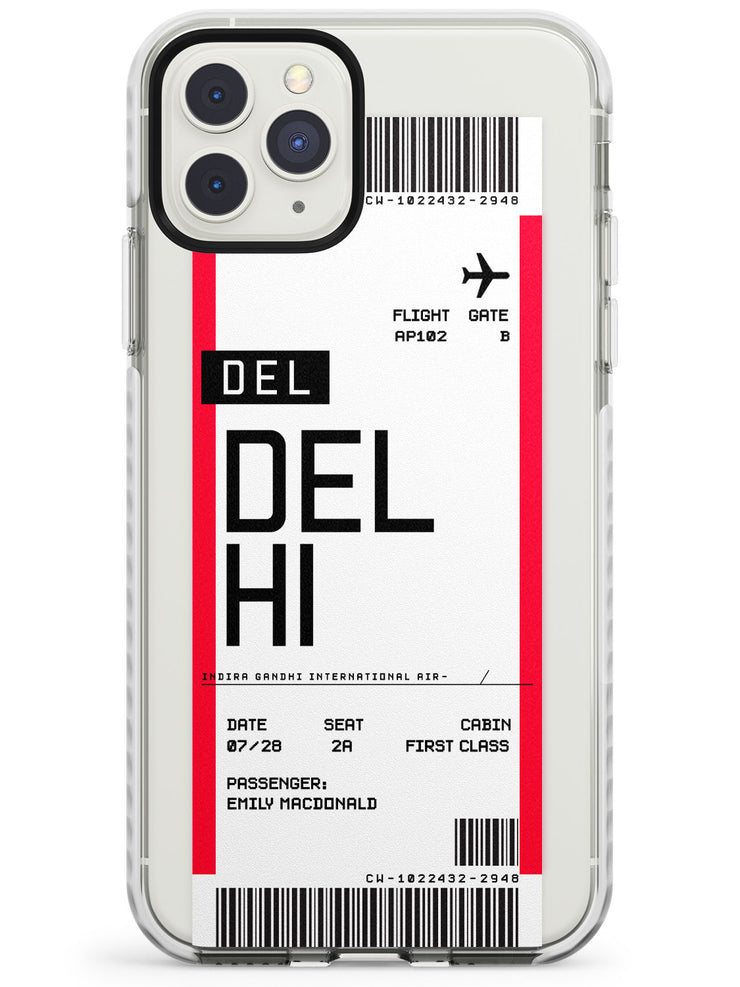 Delhi Boarding Pass iPhone Case