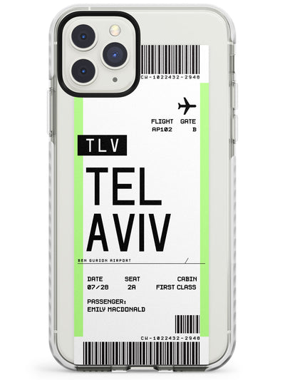 Tel Aviv Boarding Pass iPhone Case  Impact Case Custom Phone Case - Case Warehouse