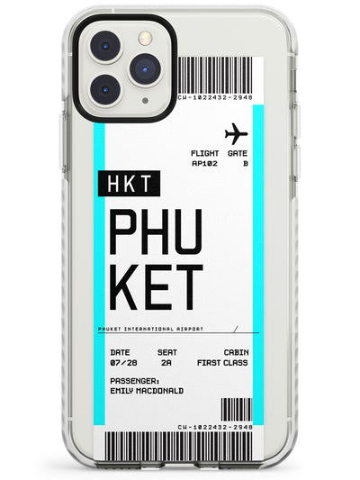 Phuket Boarding Pass iPhone Case  Impact Case Custom Phone Case - Case Warehouse