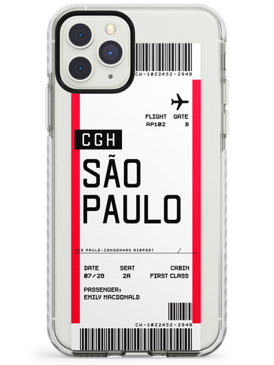 São Paulo Boarding Pass iPhone Case  Impact Case Custom Phone Case - Case Warehouse