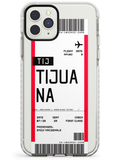 Tijuana Boarding Pass iPhone Case  Impact Case Custom Phone Case - Case Warehouse