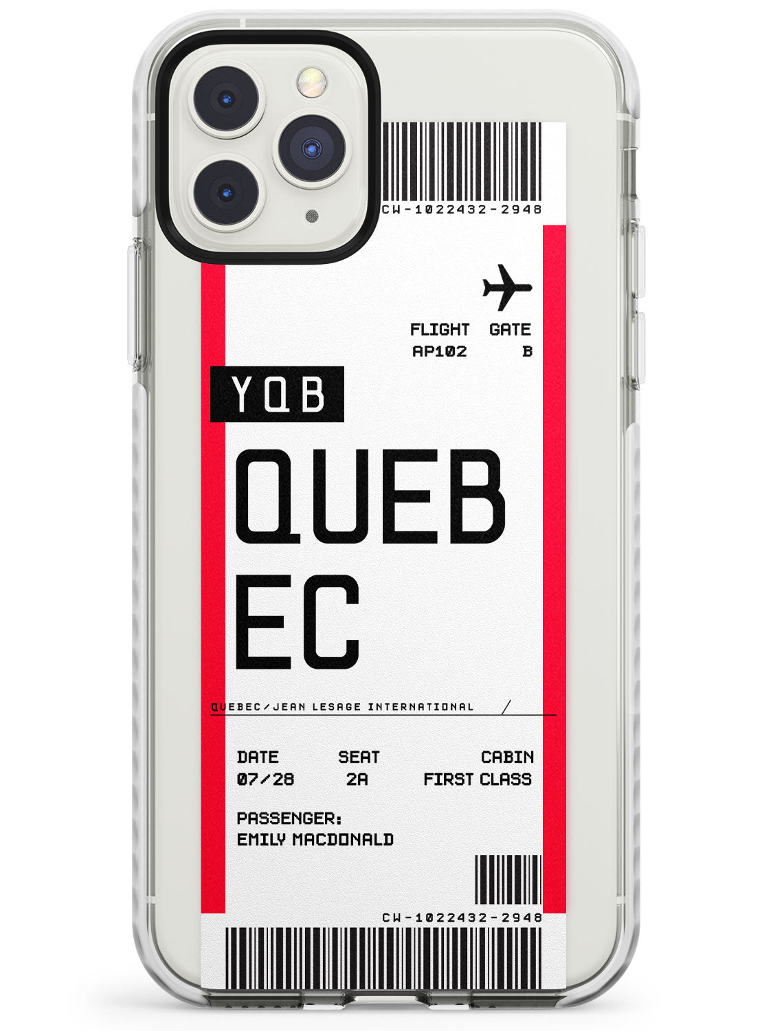Quebec Boarding Pass iPhone Case