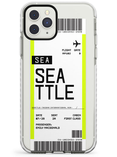 Seattle Boarding Pass iPhone Case  Impact Case Custom Phone Case - Case Warehouse