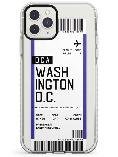 Washington D.C. Boarding Pass iPhone Case  Impact Case Custom Phone Case - Case Warehouse