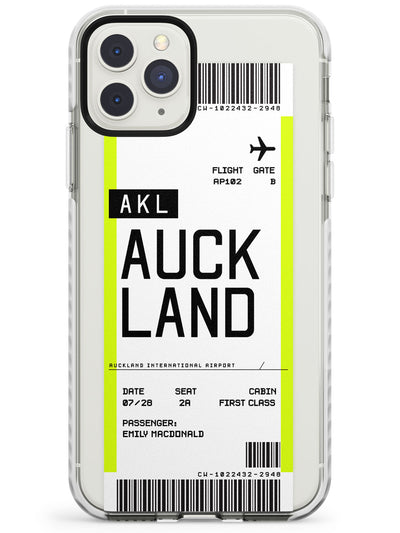 Auckland Boarding Pass iPhone Case  Impact Case Custom Phone Case - Case Warehouse