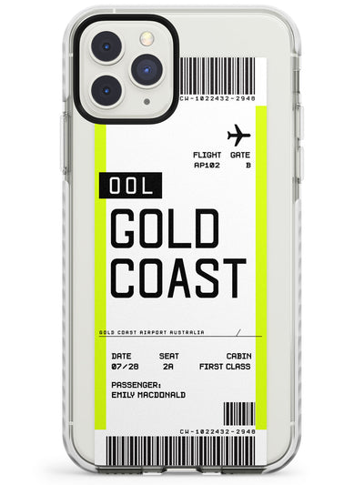 Gold Coast Boarding Pass iPhone Case  Impact Case Custom Phone Case - Case Warehouse