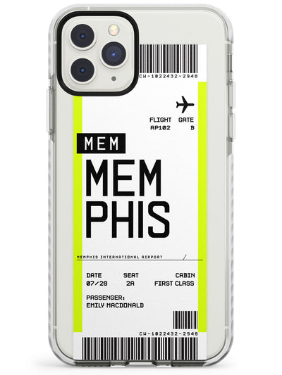Memphis Boarding Pass iPhone Case  Impact Case Custom Phone Case - Case Warehouse
