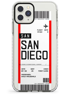 San Diego Boarding Pass iPhone Case