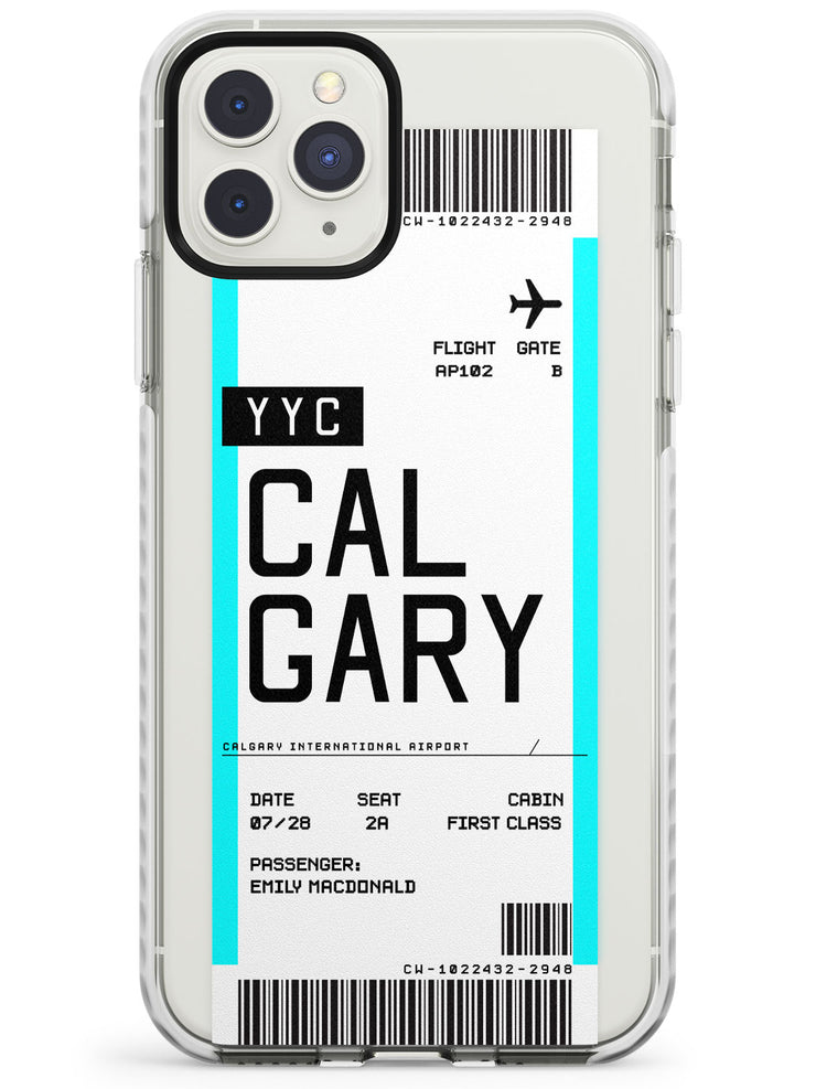 Calgary Boarding Pass iPhone Case