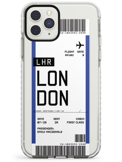 London Boarding Pass  Impact Case Custom Phone Case - Case Warehouse