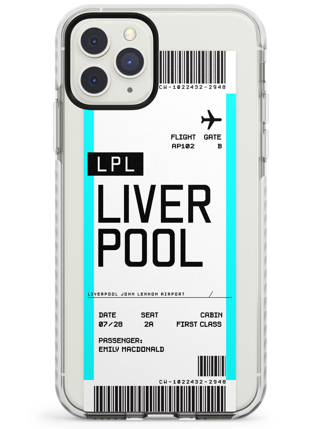 Liverpool Boarding Pass iPhone Case