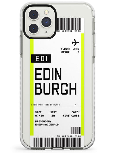 Edinburgh Boarding Pass  Impact Case Custom Phone Case - Case Warehouse
