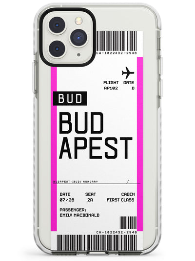 Budapest Boarding Pass iPhone Case  Impact Case Custom Phone Case - Case Warehouse