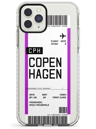 Copenhagen Boarding Pass iPhone Case  Impact Case Custom Phone Case - Case Warehouse