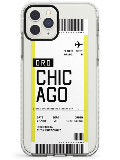Chicago Boarding Pass iPhone Case  Impact Case Custom Phone Case - Case Warehouse
