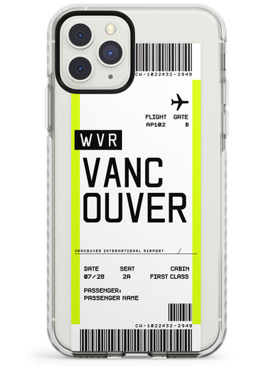Vancouver Boarding Pass iPhone Case  Impact Case Custom Phone Case - Case Warehouse