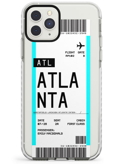 Atlanta Boarding Pass iPhone Case  Impact Case Custom Phone Case - Case Warehouse