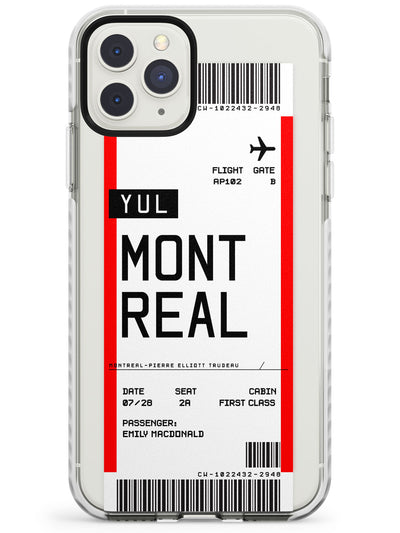 Montreal Boarding Pass iPhone Case  Impact Case Custom Phone Case - Case Warehouse