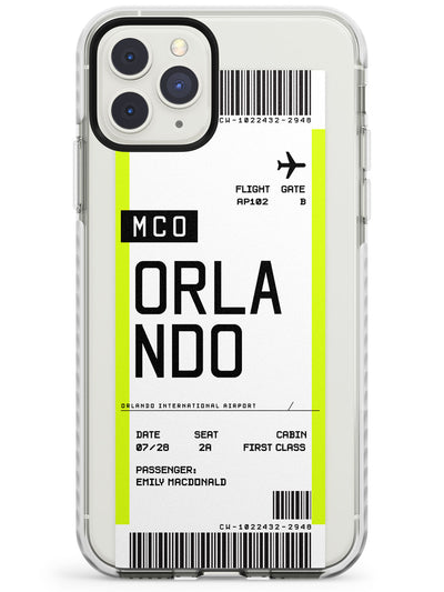 Orlando Boarding Pass iPhone Case  Impact Case Custom Phone Case - Case Warehouse