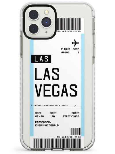 Las Vegas Boarding Pass iPhone Case  Impact Case Custom Phone Case - Case Warehouse
