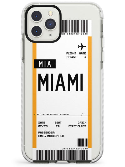 Miami Boarding Pass iPhone Case  Impact Case Custom Phone Case - Case Warehouse