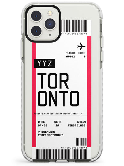 Toronto Boarding Pass iPhone Case  Impact Case Custom Phone Case - Case Warehouse