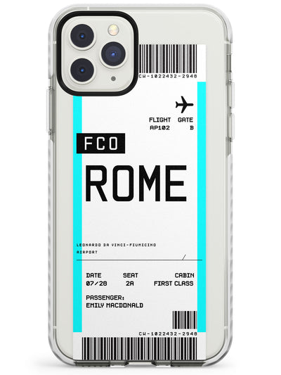 Rome Boarding Pass iPhone Case  Impact Case Custom Phone Case - Case Warehouse