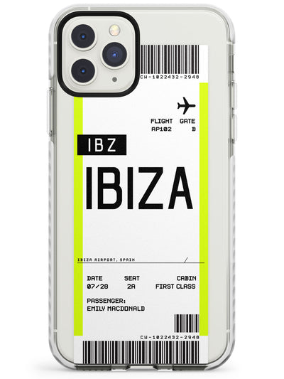 Ibiza Boarding Pass iPhone Case  Impact Case Custom Phone Case - Case Warehouse