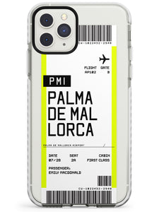 Palma De Mallorca Boarding Pass iPhone Case