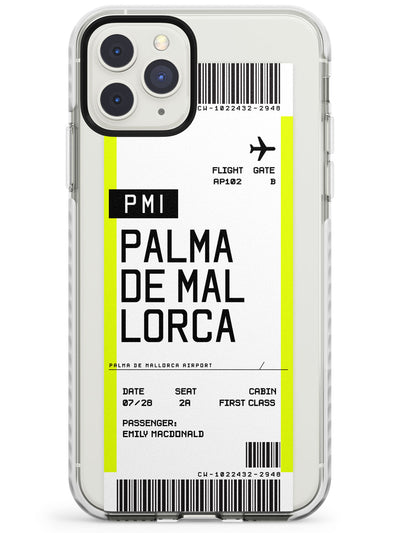 Palma De Mallorca Boarding Pass iPhone Case  Impact Case Custom Phone Case - Case Warehouse