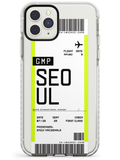 Seoul Boarding Pass iPhone Case  Impact Case Custom Phone Case - Case Warehouse