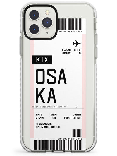 Osaka Boarding Pass iPhone Case  Impact Case Custom Phone Case - Case Warehouse