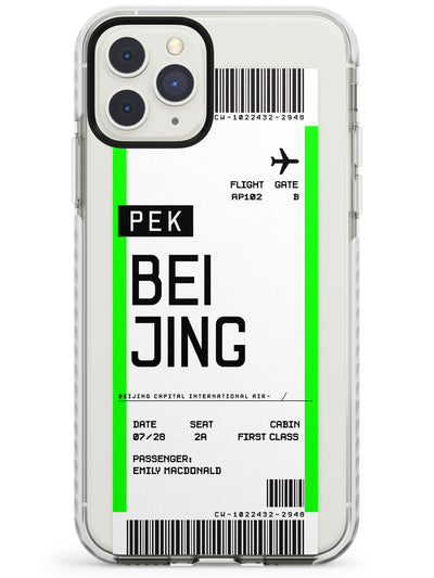 Beijing Boarding Pass iPhone Case  Impact Case Custom Phone Case - Case Warehouse
