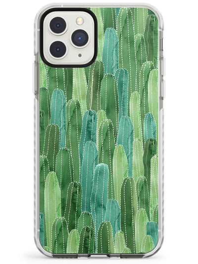 Skinny Cacti Pattern Design Impact Phone Case for iPhone 11 Pro Max