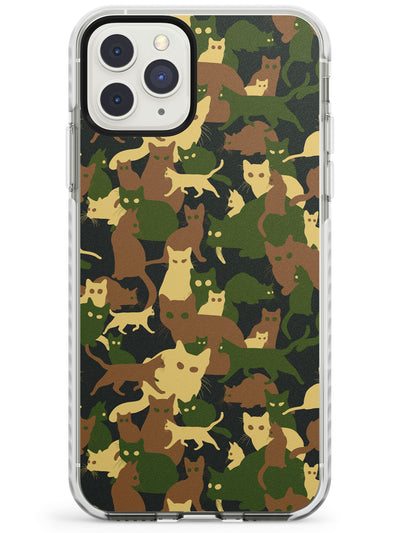 Traditionally Coloured Cat Camouflage Pattern Impact Phone Case for iPhone 11 Pro Max
