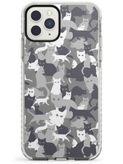 Dark Grey Cat Camouflage Pattern iPhone Case  Impact Case Phone Case - Case Warehouse