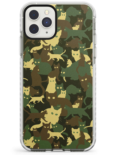 Forest Green Cat Camouflage Pattern Impact Phone Case for iPhone 11 Pro Max