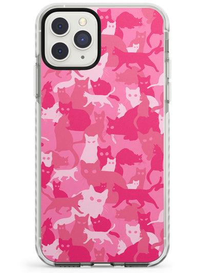 Pink Cat Camouflage Pattern iPhone Case  Impact Case Phone Case - Case Warehouse