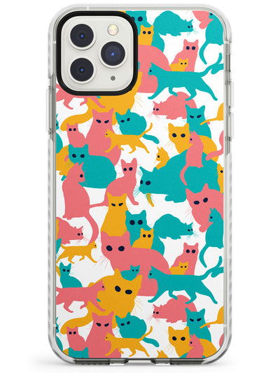 Colourful Cat Camouflage iPhone Case  Impact Case Phone Case - Case Warehouse