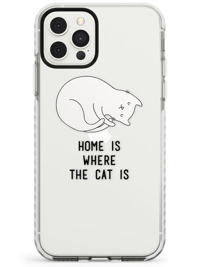 Home Is Where the Cat is Impact Phone Case for iPhone 11 Pro Max