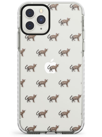 Devon/Selkirk Rex Cat Pattern Impact Phone Case for iPhone 11 Pro Max