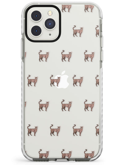 Oriental Shorthair Cat Pattern Impact Phone Case for iPhone 11 Pro Max