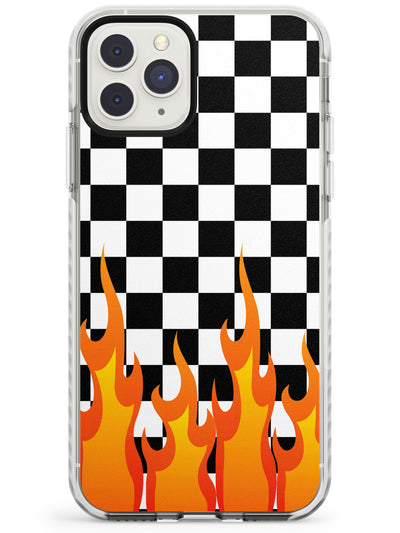 Checkered Fire iPhone Case  Impact Case Phone Case - Case Warehouse