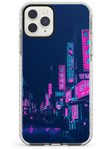 Pink & Turquoise - Neon Cities Photographs iPhone Case