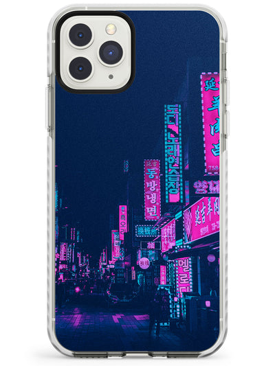 Pink & Turquoise - Neon Cities iPhone Case  Impact Case Phone Case - Case Warehouse