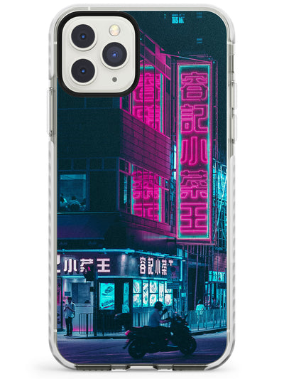 Motorcylist & Signs - Neon Cities Photographs Impact Phone Case for iPhone 11 Pro Max