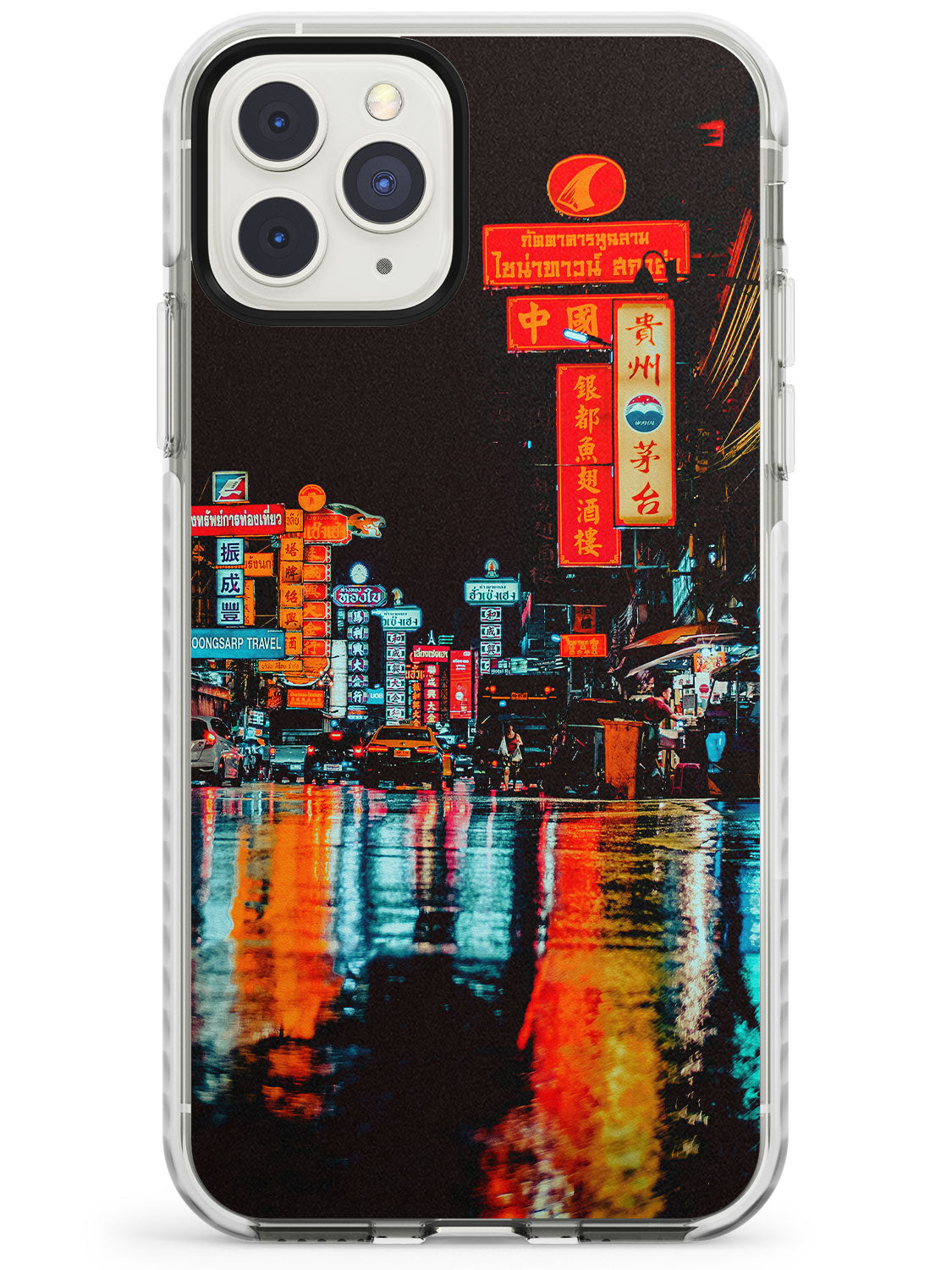 Colourful Reflections - Neon Cities Photographs iPhone Case