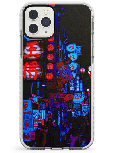 Red & Turquoise - Neon Cities Photographs Impact Phone Case for iPhone 11 Pro Max