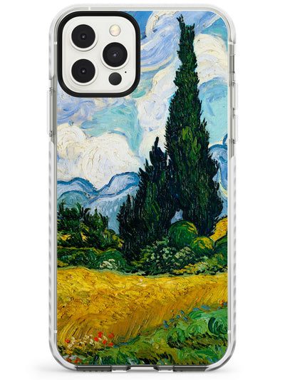 Wheat Field with Cypresses by Vincent Van Gogh Slim TPU Phone Case for iPhone 11 Pro Max