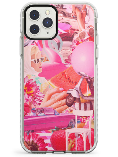 Vintage Collage: Pink Glamour Impact Phone Case for iPhone 11 Pro Max
